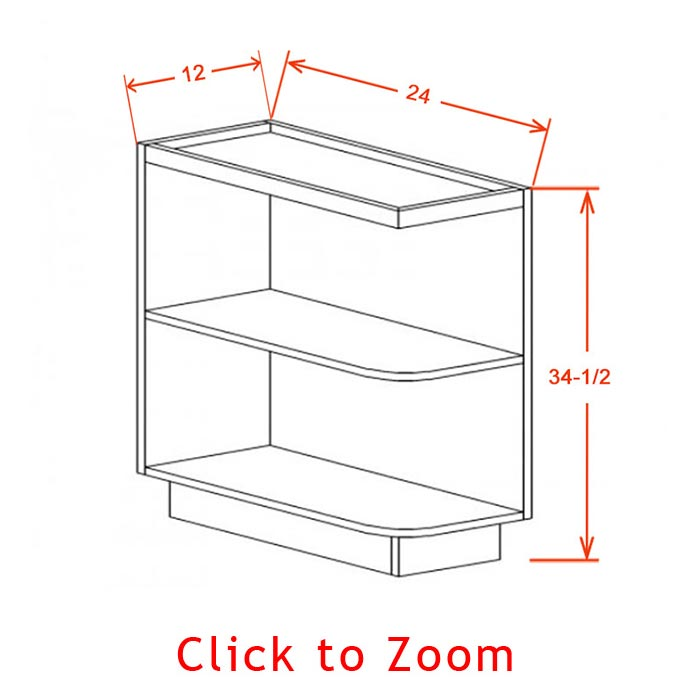 Base Open End Shelf Cabinet