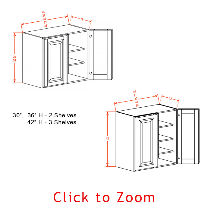 "30"" High Wall Cabinets - Double Door"