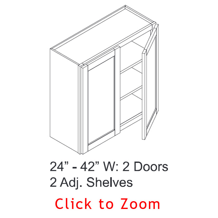 "36"" High Wall Cabinets - Double Door"