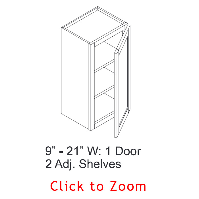 "30"" High Wall Cabinets - Single Door"