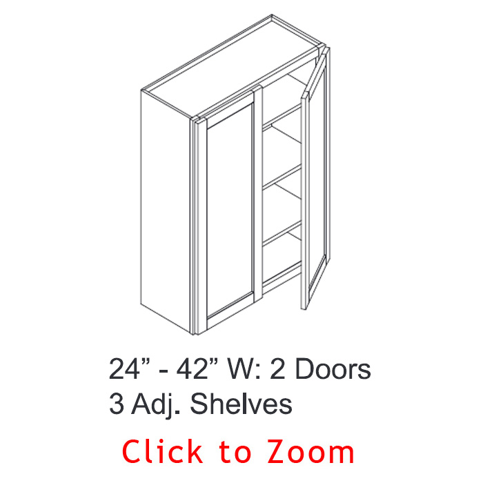 "42"" High Wall Cabinets - Double Door"