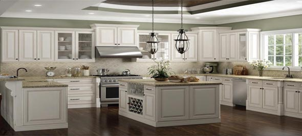 Rta Charleston Antique White Stylish Kitchen Cabinets