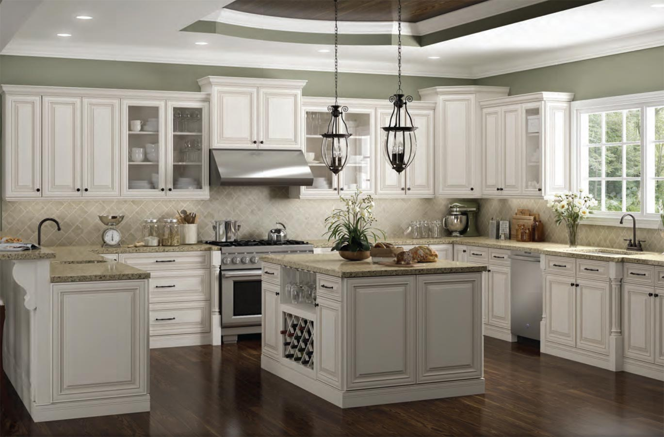 Painted kitchen cabinets cabinet ideas houselogic home for Antique white kitchen cabinets
