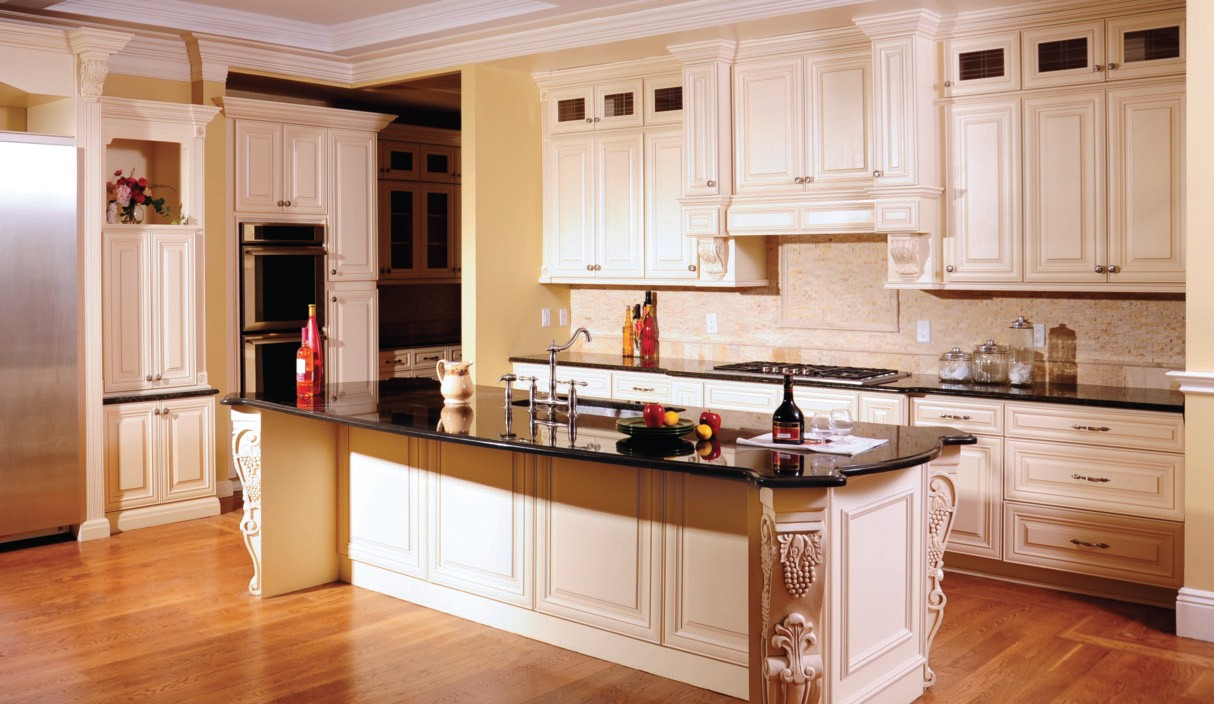 Cream Maple Glaze RTA Kitchen Cabinets - View Gallery Photos