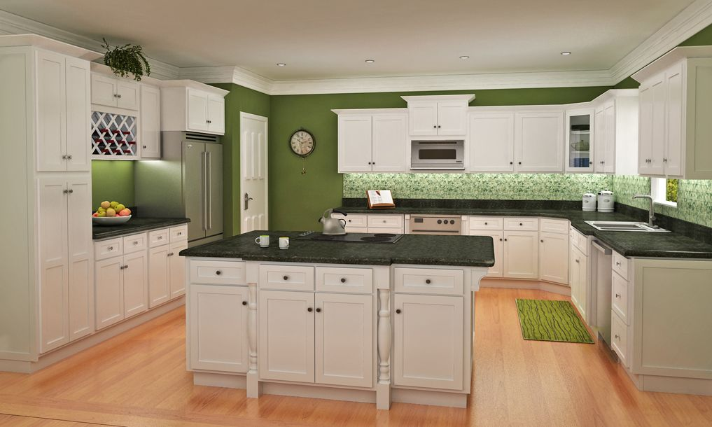 White shaker for Shaker kitchen cabinets wholesale